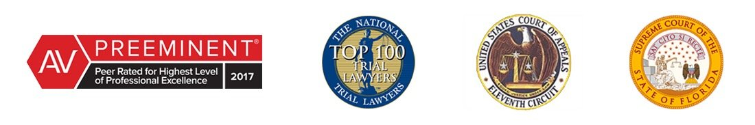 AV Preeminent, Top 100 Trial Lawyers, United States Court Of Appeals Eleventh Circuit, Supreme Sourt of the State of Florida